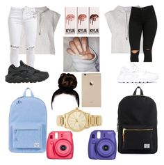 """Twin Day"" by cayfashion ❤ liked on Polyvore featuring adidas, NIKE, FiveUnits, Herschel Supply Co., Herschel and Michael Kors"