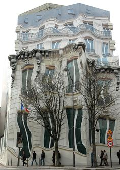 The building is painted