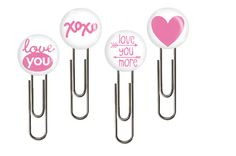 4 Planner Clips- Paper Clips For Planners-Glam Planners-Book Marks-Flair-Buttons-Pink-Love-Office-School Supply-Gift-Prize-Ladydeeplanners