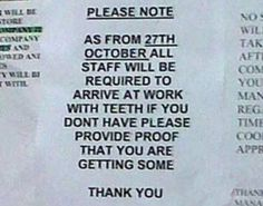 High Standards Of Employment [Pic] | I Am Bored