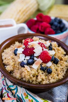 """Use quinoa for breakfast, lunch, or dinner! Check out these two awesome recipes, filled with healthy carbs, protein & of course yummy goodness! Recipes by Cathy Shambly of """"Show Food Chef!"""""""