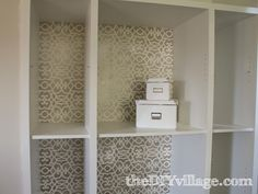 Absolutely LOVE this stenciled pantry by: theDIYvillage.com