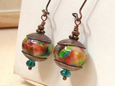 Artisan Bead Earrings by TamiLopezDesigns on Etsy, $31.00