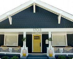 House colour, white trim, bright door