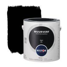 Histor Perfect Finish muurverf mat zwart 2,5 l