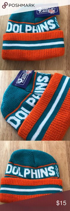 Vintage NFL Miami Dolphins Beanie Vintage  NFL  Miami Dolphins  Beanie  Brand New, Never Worn or Used ⚡️WILL SHIP IN ONE DAY⚡️All bundles of 2 or more receive 20% off. Closet full of new, used and vintage Vans, Skate and surf companies, jewelry, phone cases, shoes and more. NFL Underwear & Socks Casual Socks
