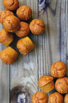 mini pumpkin muffins far