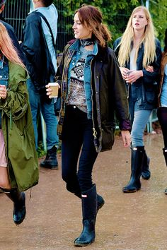 Alexa Chung attends the Glastonbury Festival at Worthy Farm, Pilton on June 26, 2015 in Glastonbury, England