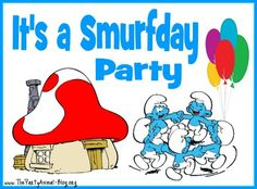 94 Best Party Smurfs Images Smurfs Birthday Decorations