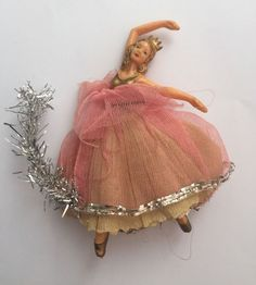 vintage Christmas tree fairy angel ballerina doll Z Christmas Tree Fairy, Merry Little Christmas, Christmas Past, Victorian Christmas, Vintage Christmas Ornaments, Christmas Tree Toppers, Retro Christmas, Vintage Holiday, Christmas Angels