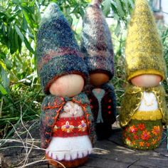 Autumnal Marigold Mountain Mama Gnome Waldorf by paintingpixie on etsy
