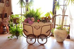 Antique Baby Carriage Becomes Breathtaking Planter - DIY tutorial | #‎Horticool‬ ‪#‎ApartmentGardening‬ ‪#‎Gardening‬