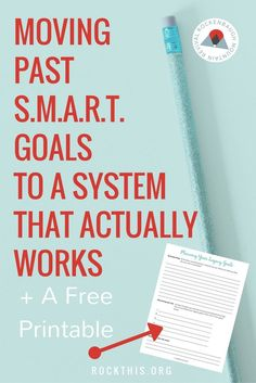 Ready to move past smart goals? There are so many different goal setting tips, but it's hard to find one that actually works. This is a great new way to set goals that increases productivity as well gives meaning to your everyday talks. Bonus: it even has a planning worksheet.