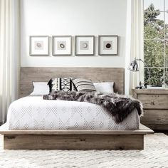 The Midtown solid wood grey bedroom set will bring modern charm and harmony to your master retreat with its fresh modern look and rustic finish. Constructed of three solid woods, Mahogany, Mango and Mindy woods, this modern platform bed set brings durability and unmatched quality.