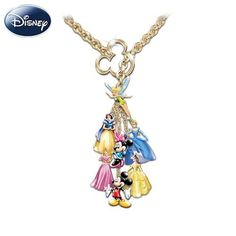 Ultimate Disney Classic 7 Charm Necklace: