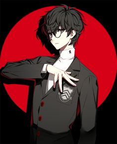 Uploaded by Find images and videos about art, anime and anime boy on We Heart It - the app to get lost in what you love. Persona Five, Persona 5 Anime, Persona 5 Joker, Cute Anime Boy, Anime Guys, Anime Glasses Boy, Ren Amamiya, Joker Pics, Akira Kurusu