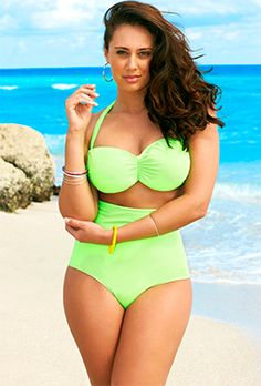 I wanted to share this with everyone that's struggling with finding the right suit that looks good & fits.  Plus size swimsuits. Young designer tackles the issue of creating cute swimsuits for plus size women.