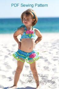 PDF Sewing Tutorial  Tutu Cute Bikini Swim Suit by PeachTeaCouture, $9.50