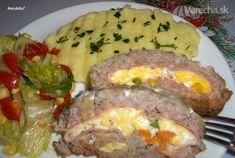 Roláda z mletého mäsa (fotorecept) Sausage, Eggs, Beef, Food And Drink, Breakfast, Czech Republic, Kitchens, Drinks, Kochen