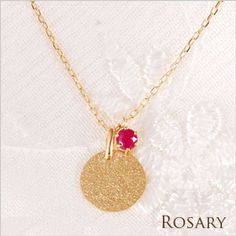 Rakuten: Gold necklace Cem Kelly K10 antique yellow gold ruby coin plate long necklace pendant ロザリー -necklace-- Shopping Japanese products from Japan