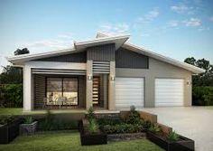 Image result for skillion roof house facades House Roof, Facade House, House Facades, House Exteriors, House Elevation, Front Entrances, House Entrance, Modern House Design, Architecture Design