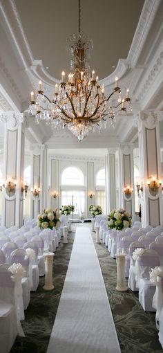 All white wedding ceremony Purple And Silver Wedding, All White Wedding, French Wedding, White Weddings, What Is Wedding, Dream Wedding, Wedding 2015, Wedding Story, Georgia Wedding