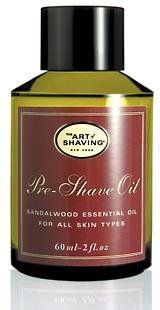 """""""Your first step to a perfect shave."""" The Art of Shaving Pre-Shave Oil is the first step in The Art of Shaving.  It softens the beard and protects the skin for a close and comfortable shave without leaving an oily residue.  Pre-Shave Oil is ideal for men with sensitive skin, ingrown hairs, razor burn or tough beards.  It is formulated with a unique blend of botanical ingredients and essential oils. The Art of Shaving products are Aromatherapy-bas..."""