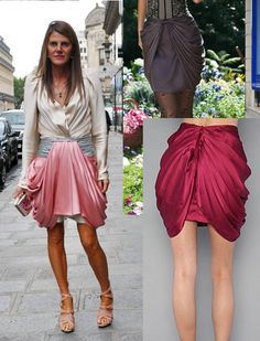 A Matter Of Style: DIY Fashion: DIY bow draped skirt