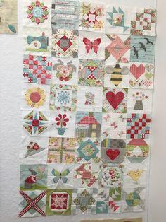40 blocks complete for my Splendid Sampler quilt