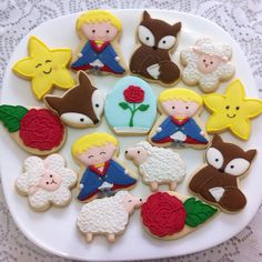 Cute cookies for your Little Prince birthday party! Prince Birthday Party, Baby Boy Birthday, First Birthday Parties, First Birthdays, Little Prince Party, The Little Prince, Baby Bash, Baby Party, Baby Shower