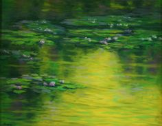 Water Lilies Oil Painting 24x30 ZEN by impressionsbyjanelle, $350.00