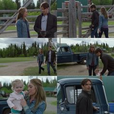 Ty: I better head to the clinic. Amy: Wait, you haven't even slept yet. Ty: I know, but I'm on the early shift, so...  Georgie: Here's Mommy and Daddy!  Good morning, Pumpkin! Hey!  Amy: Thanks, Georgie. Lyndy: Down. Ty: Down?  Amy: You know, I didn't mean to be so down. I really wouldn't change anything. Except maybe having you around more. Ty: I think you made that loud and clear. Amy: Bye, Daddy. (12x01) Heartland Quotes, Heartland Tv Show, Heartland Seasons, Spencer Twin, Ty E Amy, Heart Land, Amber Marshall, Want To Be Loved, Disney Marvel