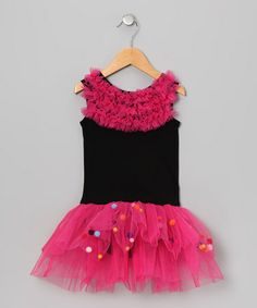 Take a look at this Black Pom-Pom Skirted Leotard - Infant & Toddler by Seesaws & Slides on #zulily today!
