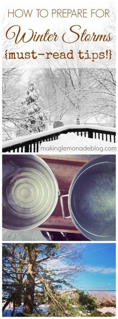 Don't wait until bad weather hits! 10 tips on how to prepare for winter storms and power outages- important tips from www.makinglemonadeblog.com that can save you THOUSANDS of dollars in damages!
