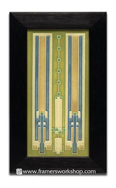 Frank Lloyd Wright Rugs | Framed Motawi Tiles: Frank Lloyd Wright Designs > Avery Coonley Rug