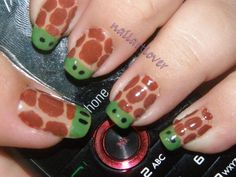 While, otherwise fun, Turtle designs on your #Fingernails is a #Job #interview don't.