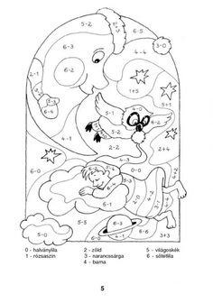 Színező 10-ig - kisferenc.qwqw.hu 1st Grade Math, Cool Kids, Snoopy, Teaching, Education, School, Fun, Fictional Characters, Color