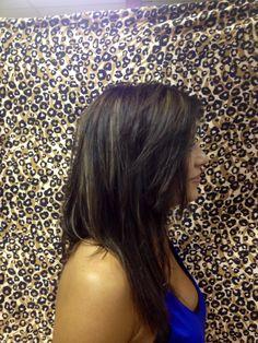Dark brown with Carmel highlights
