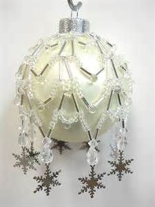 "Pattern Only Beaded Christmas Ornament Cover ""Charmed Snow Flake ..."