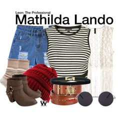 Inspired by Natalie Portman as Mathilda Lando in 1994's Leon: The Professional.