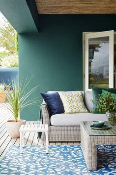 peinture outdoor - Little Greene - www. Little Greene Paint Company, Little Greene Farbe, Outdoor Paint, Outdoor Decor, Outdoor Rooms, Outdoor Living, Peinture Little Greene, Masonry Paint, Best Exterior Paint