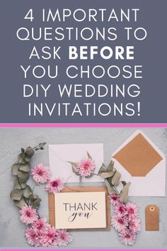 Want DIY wedding invitations but not sure if you have the time or crafting skills? Answer 4 simple questions to figure out if you should buy or DIY wedding invitations! Homemade Wedding Stationery, Make Your Own Wedding Invitations, Wedding Decorations On A Budget, Pocket Wedding Invitations, Handmade Wedding Invitations, Destination Wedding Invitations, Wedding Invitation Maker, Invite, Wedding Venues