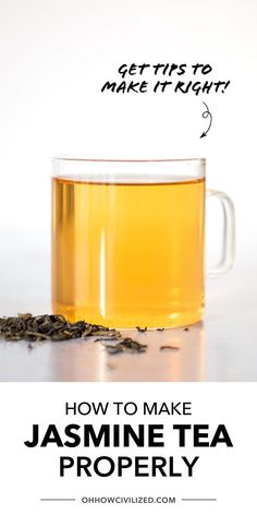 Jasmine Tea is quite the popular tea beverage! It's easy to make and is absolutely soothing. Follow my tea sommelier tips to make it the right way - click to continue. Milk Tea Recipes, Iced Tea Recipes, Drink Recipes, Jasmine Tea Recipe, Best Herbal Tea, Caffeine Free Tea, Homemade Tea, Perfect Cup Of Tea, Thai Tea