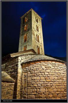 Església de Santa Eulalia d'Erill la Vall, a l'Alta Ribagorça (Catalonia)
