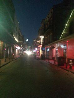 All is quiet on Bourbon Street by Melanie Starr
