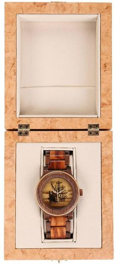 Wooden Watch Box, Wooden Boxes, Handmade Wooden, Handmade Crafts, Marquetry, All The Colors, Gold Watch, Ship, Watches