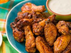 How to Make the Best Oven-Fried Chicken Wings — Food Network Oven Fried Chicken Wings, Air Fryer Chicken Wings, Baked Chicken, Dijon Chicken, Pepper Chicken, Wings In The Oven, Sweet And Spicy Sauce, Best Oven, Chicken Wing Recipes