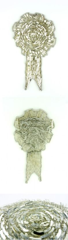 Claire McArdle Brooch: Rosette, 2012 Sterling silver, silk, stainless steel