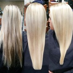 Platinum blonde before and after