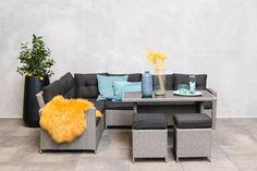 Fonteyn | Laos Lounge-Diningset | Grijs Outdoor Furniture Sets, Outdoor Decor, Laos, Outdoor Living, Lounge, Home Decor, Products, Airport Lounge, Outdoor Life